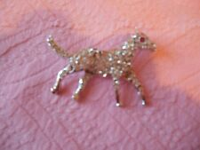 VINTAGE RHINESTONE PIN BROOCH SHAPE OF RUNNING HORSE NEW OLD STOCK RARE FIND