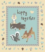 """Disney's Bambi Happy Together 100% cotton 43/44"""" Fabric by the panel (35.5"""")"""