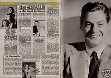 Coupure de presse Clipping 1992 Johnny Weissmuller  (2 pages) Tarzan