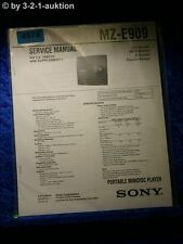 Sony Service Manual MZ E909 Mini Disc Player (#4978)