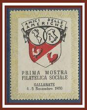 ITALIE ITALIA VIGNETTE Gallarate Expo philatelique amis de l'Amérique Cinderella