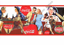 Vintage Collectible Red Coca Cola COKE DATE Wall paper Border Partial Roll 8 ft
