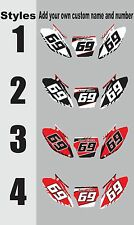 Number plates side panels graphic decals for 2007-2008 Honda CRF150r CRF 150r