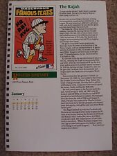 Rogers Hornsby 1987 Baseball Card Engagement Book w/ 1973 Fleer Famous Firsts