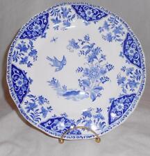 """Gien France DELFT BLUE Dinner  Plate HTF Discontinued Birds & Flowers 10"""""""