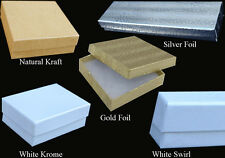 """50 PCS 6x5x1"""" White Krome #65 Jewelry Box Gift Packaging Favor Retail Display"""