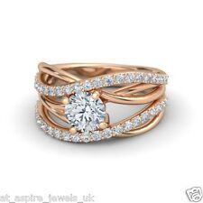 1.80CT ASYMMETRICAL LOVE KNOT SOLITAIRE ENGAGEMENT RING IN 14 CARAT ROSE GOLD