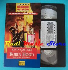 VHS film cartonata ROBIN HOOD 1994 Kevin Costner Freeman FABBRI*VIDEO(F92)no dvd