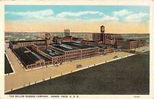 Akron Ohio Miller Rubber Company Street View Antique Postcard K39902
