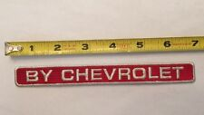 By Chevrolet Chevy Embroidered Car Truck Patch Red