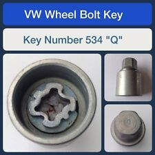 "Genuine VW Locking Wheel Bolt / Nut Key 534 ""Q"""