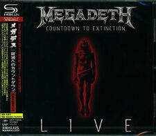 MEGADETH COUNTDOWN TO EXTINCTION JAPAN 2013 SHM HIGH FIDELITY CD - NEW!