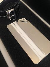 NEU MONTBLANC *Lifestyle* Koffer Anhänger Luggage Tag Leather Black Silver -690