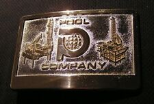 VINTAGE 1980'S POOL OFFSHORE COMPANY BELT BUCKLE Oil Drilling Driller HARVEY LA