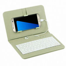Wired Keyboard Flip Holster Case Cover For Andriod Mobile Phone 4.2''-6.8'' US