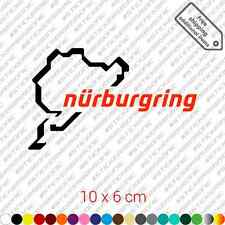 Nurburgring sticker decal vinyl - Black and Red