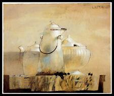 Lilita Upeniece Blackberries Poster Kunstdruck mit Alu Rahmen in schwarz 50x60cm