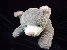 Target Grey Cat Blue Eyes Pink Ears Plush Soft Toy Stuffed 9""