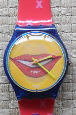 Mens Quartz Swatch Watch GN 181 Swatch Kiss Hologram Dial From 1999 Brand New