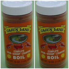 2 PACK CAJUN LAND CRAB SHRIMP CRAWFISH BOIL COMPLETE 2 POUNDS! Free boil recipe
