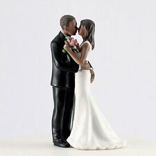 Main Squeeze African American Cheeky Couple Funny Wedding Cake Topper