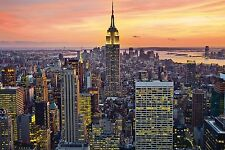 EMPIRE STATE BUILDING - NEW YORK CITY POSTER - 24x36 CITYSCAPE SKYLINE NYC 1516