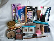 JOB LOT X 32 mixed Cosmetics - Maybelline, Avon, Boots, W7, NYC
