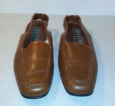 Amalfi Womens Brown Sling Back Loafers Size 8.5