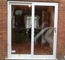 UPVC White Sliding Patio Doors / 2090mm x 1790mm / FAST DELIVERY