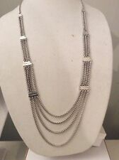 $45 Lucky Brand Silver Tone Wheat Chain Necklace  Item 141 (8)