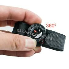 Newest 1* Watchband Compass Nylon Band With Velcro Closure Compass Outdoor Trip