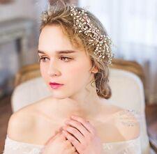 Pearl Wedding Hair Accessories Bridal hair Clips Golden flower hair piece