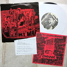 """Rorschach  / 1.6 Band – My War / Trying  7"""" Chainsaw Safety Records"""