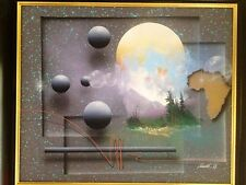 "ORIGINAL SIGNED J KUGLER ABSTRACT PAINTING ACRYLIC ON CANVAS 29"" x 25"" FRAMED"