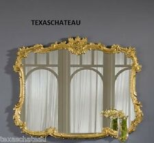 LARGE ORNATE ANTIQUE GOLD ARCHED WALL MIRROR FRENCH REGENCY BAROQUE ARCH BUFFET