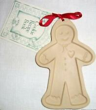 Brown Bag Cookie Art Mold 1992 Gingerbread Man Hill Designs NEW + Recipes USA