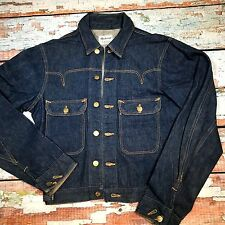 ORIGINAL 1940`S MADEWELL SANFORIZED DENIM 2 POCKET DENIM JACKET USA 36 chest uk