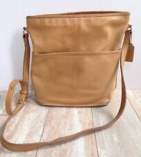 Vintage Coach Cross-Body Purse Bag Handbag Tan Leather 0255 027 USA
