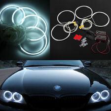 4x LED CCFL Angel Eyes Halo Rings lights Xenon Blanco para BMW E36 E39 E46 8000K