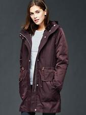 NWT GAP Women's Three-in-one parka jacket, Rich Eggplant SIZE XXL