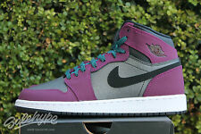 NIKE AIR JORDAN 1 RETRO HIGH GS GG 9 Y MULBERRY PURPLE GREY BLACK 332148 505