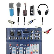 ammoon 3 Channel Digtal Mic Line Mixer Console for Music DJ Stage Karaoke E7R7