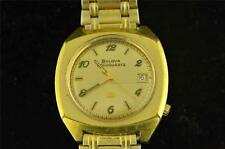RETRO MENS BULOVA ACCUQUARTZ WRISTWATCH WITH DATE KEEPING TIME