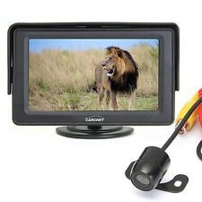 """4.3"""" TFT LCD Moniteur Rétroviseur Caméra de Recul Sans Fil 170° DC12V Voiture"""