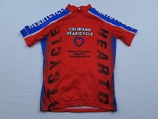 Womens Aussie Colorado Heartcycle Cycling Tours Red Heart Bike Race Jersey Sz S