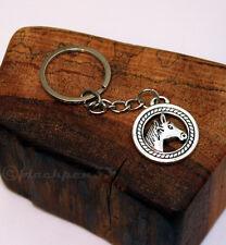Schlüsselanhänger, Schlüsselring, keychain, PFERD, horse, SILBER
