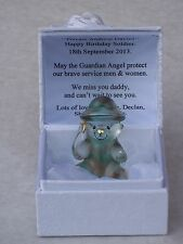 SOLDIER@Teddy Bear@Box & Personalizado Amor Verse@ARMED FORCES~Gift@Dad @ARMY @LOVE