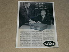 Scott Tube 330 Tuner Ad, 1960, Article, Herman Scott in Ad, 1 page, RARE!