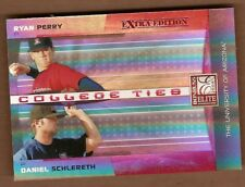 Ryan Perry Daniel Schlereth 2008 Donruss Elite College Ties Red