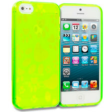 Neon Green Dog Paw TPU Rubber Case Cover Accessory for iPhone 5 5S 5th